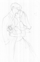 Lily James Wedding Sketch by julvett