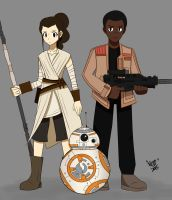 The Force Awakens by Tkeio