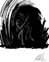 Quick Paint: Spook in the Cave by Kiru100