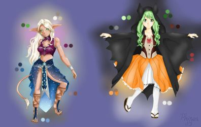 Set of sweet Adoptables by Phynex113