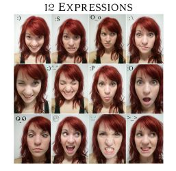 12 Expressions by Oleander04