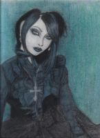 Mana in Black and Blue by gothicpoizonivy