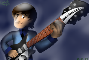 John and his Rickenbacker by OverlordCarlen