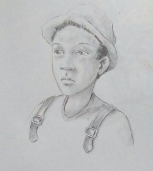 black boy sketched during mentalist..... by Sid9215