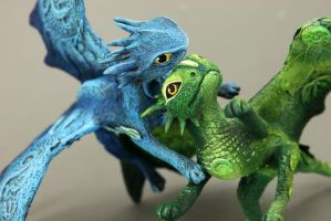 Grassguy and Blue - RGL-project dragons by hontor