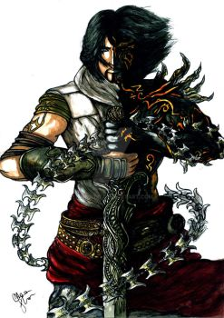 Prince of Persia, (Acrylic Paints and Pen) by Mona737