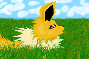 Worried Jolteon by BlueAmerican164