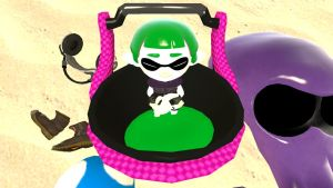 An Inkling Mini In Her Own Little Poool (top view) by mrbenio