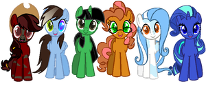 .:DOLL:. My Mane 6 As the Show's Mane 6. by Gr8AndPowerfulAroura