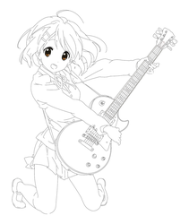 Yui lineart by RaeArtworks
