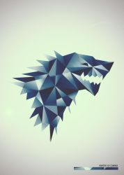 Game of Thrones house Stark poster by knolte4fun