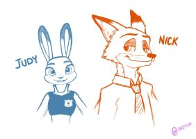 Judy and Nick by SuzyLin