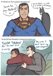 Clark and Bruce Doodles by Harseik
