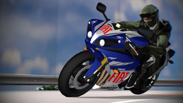 [MMD] Urban Team-6 Doing a Corner With YAMAHA R1 by bluecandyboy