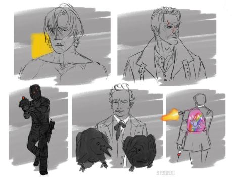 Altered Carbon sketches by Penti-Menti