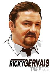 Portrait of Ricky Gervais by thejoshinator