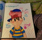 .:Request:. ~Kirby and Ness~ by vivilong