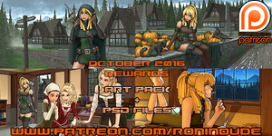 Patreon October 2016 Art Pack! by RoninDude