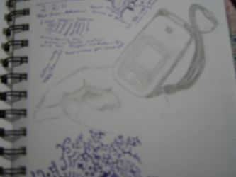 sketch of my lost phone by AuraHeart