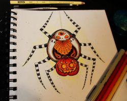 Halloween Spider by loveandasandwich