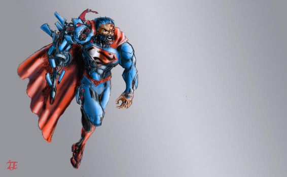 New52 Cyborg Superman by Ziggyman