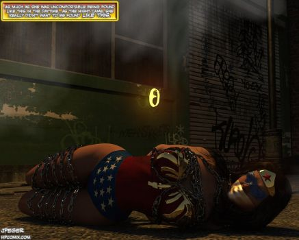 Wonder Woman in the Alley by thejpeger