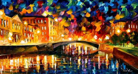 Bridge Over Dreams by Leonid Afremov by Leonidafremov