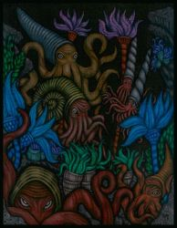 A Congregation of Cephalopods by tekelili