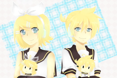 Kagamine Rin and Len birthday 2013 by iLuffMehh