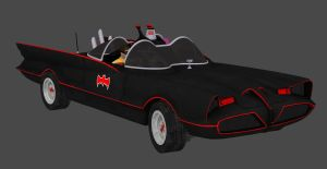 XNALARA - BATMAN ARKHAM KNIGHT - BATMOBILE 1960s by CapLagRobin
