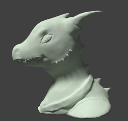 Sculpting practice - Willow/Lizardfolk by Elswere