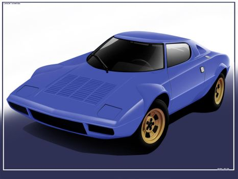 lancia stratos vector by hugosilva
