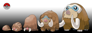 220 - 473 Swinub Line by InProgressPokemon