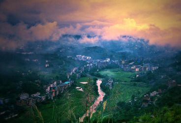 Small town in the Valley by lincochuan