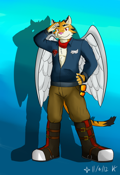 Zeke The WInged Tiger by Vent-Kazemaru