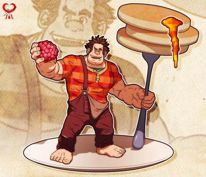 Wreck-It Ralph + I'm gonna eat it! + by leomon32