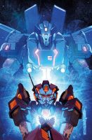 Transformers Lost Light issue 8 Sub cover colours by markerguru