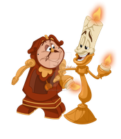 Cogsworth and Lumiere - colored by Rob-lightning