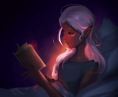 late night reading by poodled