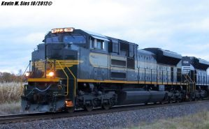 NS Erie heritage 1068 leads NS 55A Shiloh IL by EternalFlame1891
