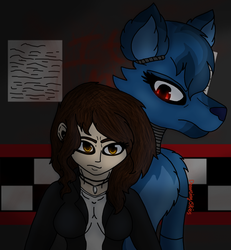 Kaelynn and The Wolf by DreamcatcherSkies16