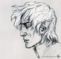 Inktober Day7 - Fenris by yuhime