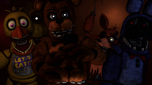(SFM/FNAF 2/Wallpaper) The withered gang by Fazband83