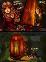 im gonna wait for you zelda and link ss Remake by eve-link02