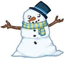 Free to Use Snowman Pagedoll by Ezilyn