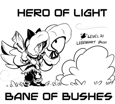 day4 Hero Of light by drowtales