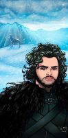 Jon Snow Panel Art by RichBernatovech