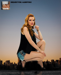 Giantess Bella Thorne in shorts by Alberto62