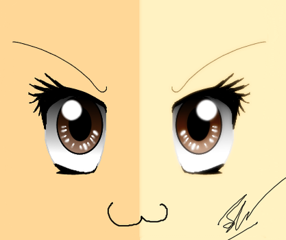 Anime Eyes - Attempt 2 by Jakeiiii