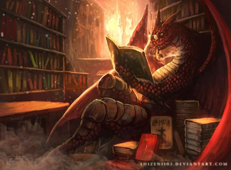 CM: The Bookwyrm by shizen1102